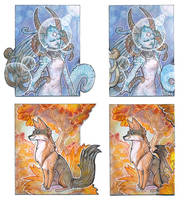 ACEO - Anfisa and Nidawi by drachenmagier