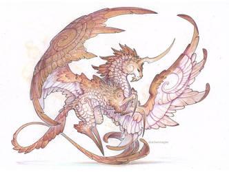 Commission - dragon unicorn by drachenmagier