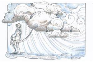 Inktober day 19: Cloud by drachenmagier