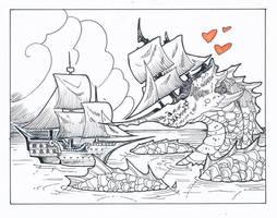 Inktober day 25: Ship by drachenmagier