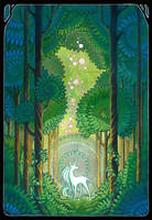 unicorn forest by drachenmagier