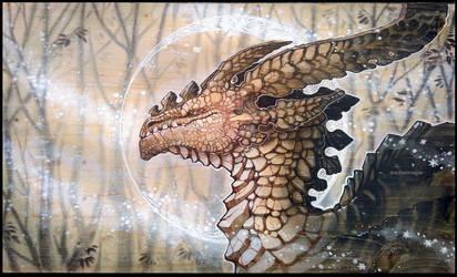 winter dragon by drachenmagier