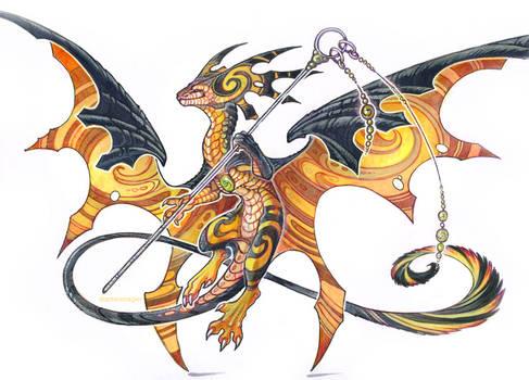 swirly wasp dragon by drachenmagier