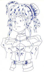 Fate/Zero Saber sketch by Monotic