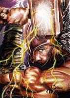 Thor Sketch Card - Matt Glebe by Pernastudios