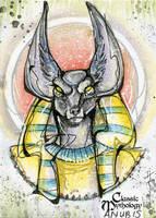 Anubis Sketch Card - Sara Richard by Pernastudios