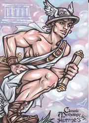 Hermes Sketch Card - Amber Shelton by Pernastudios