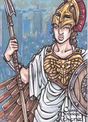 Athena Sketch Card - Amber Shelton by Pernastudios