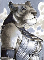 Bastet Sketch Card - Richard Cox by Pernastudios
