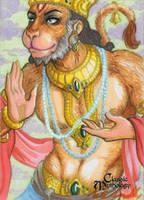 Hanuman Sketch Card - Kate Bradley by Pernastudios