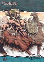 Centaur Sketch Card - Nestor Celario Jr. by Pernastudios