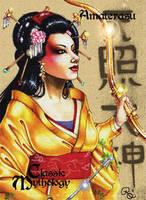 Amaterasu Base Card Art - Rhiannon Owens by Pernastudios