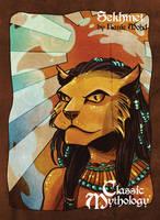 Sekhmet Sticker Card Art - Hanie Mohd by Pernastudios