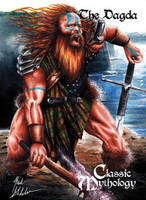 The Dagda Base Card Art - Mick Glebe by Pernastudios