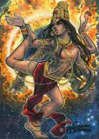 Shiva Sketch Card - Meghan Hetrick by Pernastudios