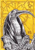 Thoth Sketch Card - Nestor Celario Jr. by Pernastudios