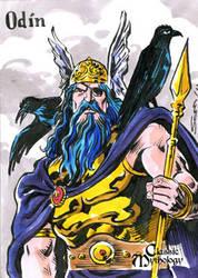 Odin Sketch Card - Sam Agro by Pernastudios