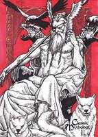 Odin Sketch Card - Nestor Celario Jr. by Pernastudios