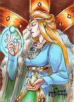 Freyja Sketch Card - Mel Uran by Pernastudios