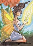 Spellcasters Sketch Card - Stacey Kardash 1 by Pernastudios