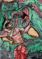 Heracles Vs. the Hydra - Babisu Kourtis by Pernastudios