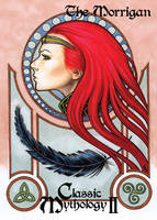 Morrigan Base Card Art - Sean Pence by Pernastudios