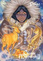Pinga Base Card Art - Amy Clark by Pernastudios