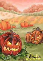 Hallowe'en Sketch Card - Stacey Kardash 3 by Pernastudios