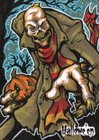 Hallowe'en Sketch Card - Benjamin Glendenning 3 by Pernastudios