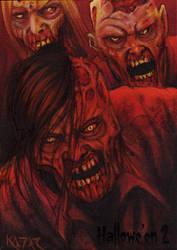 Hallowe'en 2 Sketch Card - Frank A. Kadar 3 by Pernastudios