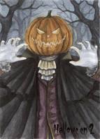 Hallowe'en 2 Sketch Card - Athina Poda 3 by Pernastudios
