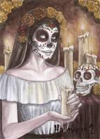 Hallowe'en 2 Sketch Card - Athina Poda 2 by Pernastudios