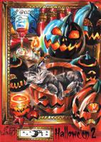 Hallowe'en 2 Sketch Card - Achilleas Kokkinakis 3 by Pernastudios