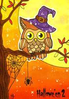 Hallowe'en 2 Sketch Card - Anastasia Catris 1 by Pernastudios