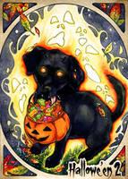 Hallowe'en 2 Sketch Card - Samantha Johnson 3 by Pernastudios