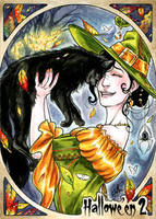 Hallowe'en 2 Sketch Card - Samantha Johnson 1 by Pernastudios
