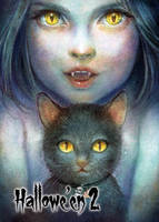 Black Cat Base Card Art - Juri H. Chinchilla by Pernastudios