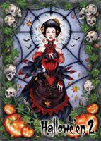 Vampire Base Card Art - Samantha Johnson by Pernastudios