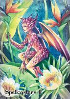 Spellcasters II Preview Card Art - Hanie Mohd by Pernastudios