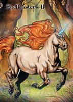Unicorn Base Card Art by Jason Saldajeno by Pernastudios