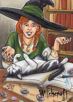 Witchcraft Sketch Card - Amy Clark 2 by Pernastudios
