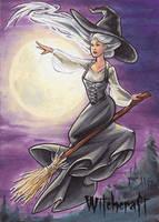 Witchcraft Sketch Card - Amy Clark 1 by Pernastudios