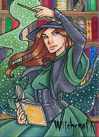 Witchcraft Sketch Card - Gabrielle Bruer 1 by Pernastudios