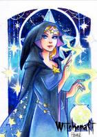 Witchcraft Sketch Card - Hanie Mohd 3 by Pernastudios