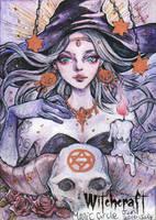 Witchcraft Sketch Card - Juri H. Chinchilla 2 by Pernastudios
