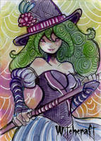Witchcraft Sketch Card - Luro Hersal 1 by Pernastudios