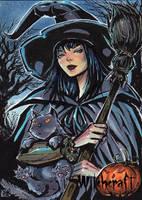 Witchcraft Sketch Card - Melike Acar 1 by Pernastudios