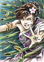 Elementals Sketch Card - Daniel Wong 2 by Pernastudios