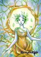Elementals Sketch Card - Hanie Mohd 3 by Pernastudios