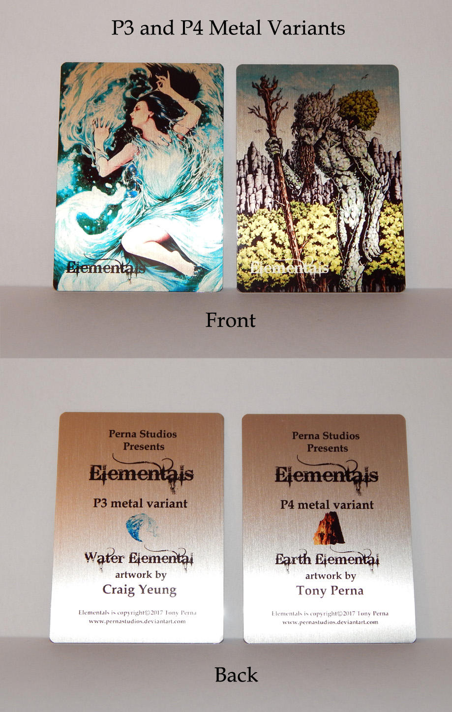 Elementals P3 + P4 Metal Variants - FOR SALE by Pernastudios